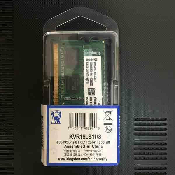 RAM Laptop Sodim DDR3L 8GB PC12800 - Kingstone