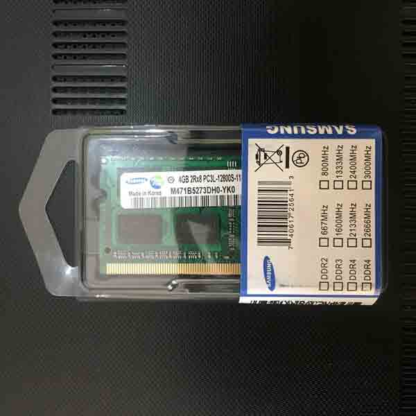 RAM Laptop Sodim DDR3L 4GB PC12800 - Samsung