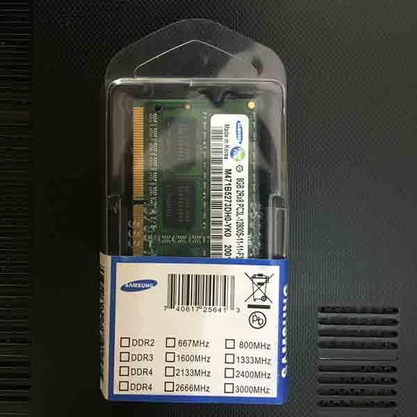 RAM Laptop Sodim DDR3L 8GB PC12800 - Samsung