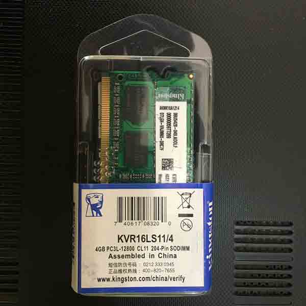 Memory RAM Sodim DDR3L 4GB PC12800 - Kingstone